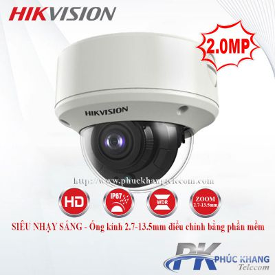 Camera HDTVI Dome 2MP HIKVISION DS-2CE5AD3T-VPIT3ZF